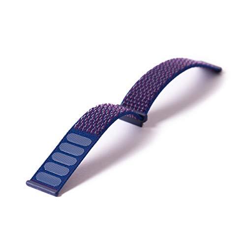 ANIO Armband für ANIO4 Touch, aus Textil mit Klettverschluss, weiches und atmungsaktives Uhrenarmband, Lila
