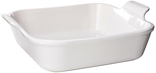Le Creuset Heritage Stoneware Square Dish, 3-Quart, White