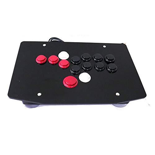 JZYLOVE JINZHIYANG RAC-J503B Alle Tasten Arcade Stick-Controller Kampf Hitbox Art Joystick gepasst for PC USB (Color : Red and Black)
