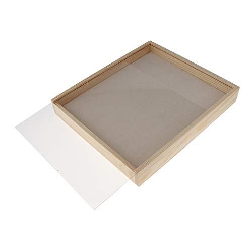 IPOTCH Schmuck-Tabletts Aus Holz Schmuck Display Showcase Organizer für Ohrringe, Armband, Halskette, Beige