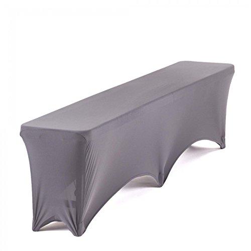 Strattore Panno Panca Cloth per Panchina Giardino Cover Partito Copre 30 x 180 cm in Antracite