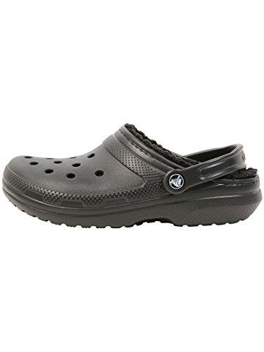 Crocs Classic Lined Clog, Zuecos Unisex Adulto, Negro (Black/Black), 39/40 EU