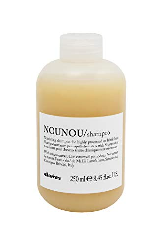 Davines NOUNOU Shampoo | Hydrating Deep Shampoo for Bleached, Permed, Relaxed, Damaged Hair or Very Dry Hair | Replenishes Chemically Processed Hair | 8.45 fl oz