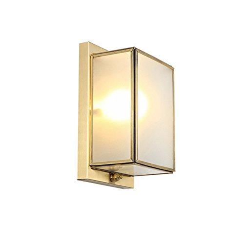 XinQing-Lámparas de Pared Sala de Estar Lámpara de Pared Dormitorio Corredor Lámpara de Pared de Cobre Lámpara de Noche (Size : A)