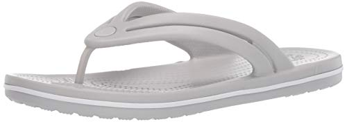 Crocs Women's Crocband Flip Flop | Slip On Water Shoes | Casual Summer Sandal, Pearl White, 9 M US