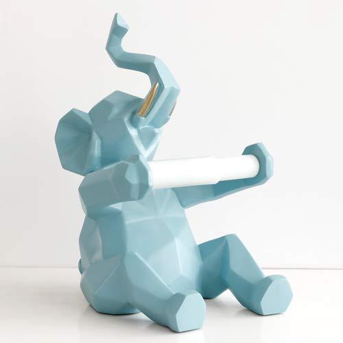 JIAXIN Esculturas Decorativas Animal Estatua Artesanía Rollo De Papel Soporte Mesa Sala...