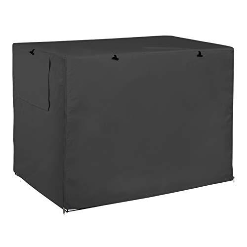 Cubierta para jaula de perro, resistente al viento, para interior y exterior, poliéster resistente, apta para la mayoría de jaula de alambre (109 x 74 x 76 cm), color negro