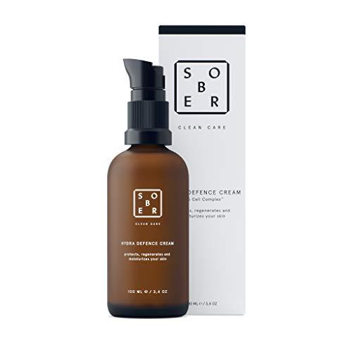 sober® | Hydra Defence Cream | vitalisierende Feuchtigkeitscreme mit Hyaluron, Vitamin C,Aminosäuren und D5 Cell Complex™