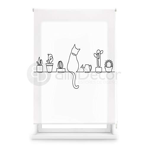 Blindecor Estor Enrollable translúcido Cocina, Cat, 110 x 180 (Ancho x Alto)