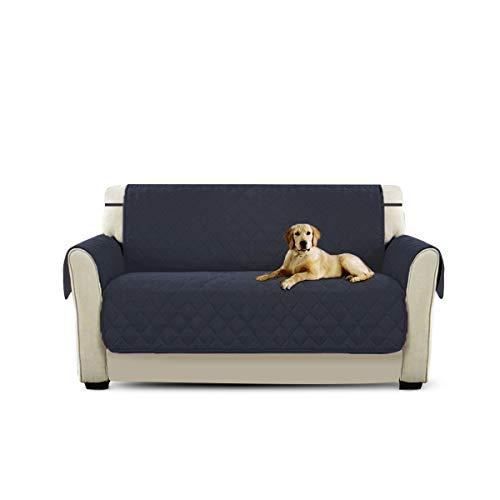 PETCUTE Fundas para Sofa Acolchado Cubre sofá Protector de sofá o sillón Dos Tres plazas Azul Profundo 2 plazas Protector de sofá para Mascotas