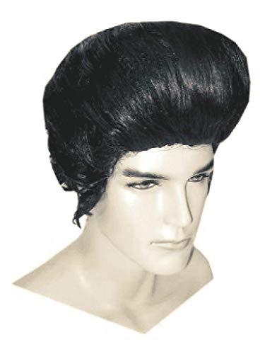 Pruik - Zwart - Elvis