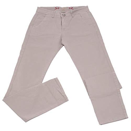 Carlo Chionna 0609K Pantalone Uomo 9.2 Grey Dove Cotton Trouser Men [31]