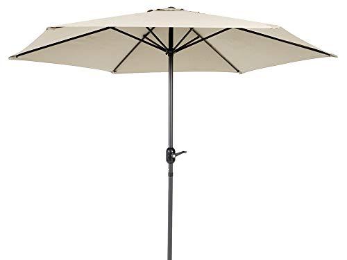 Parasol de Aluminio Beige con ventilación para terraza de 270 cm - LOLAhome