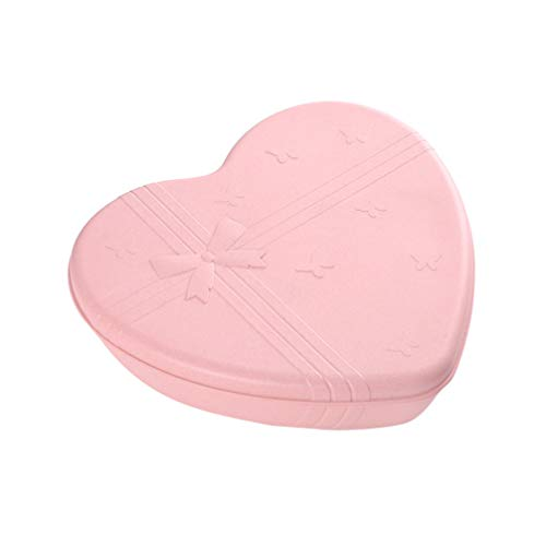 UPKOCH Snack Serving Tray Rotating Heart Shape 5 Compartment...