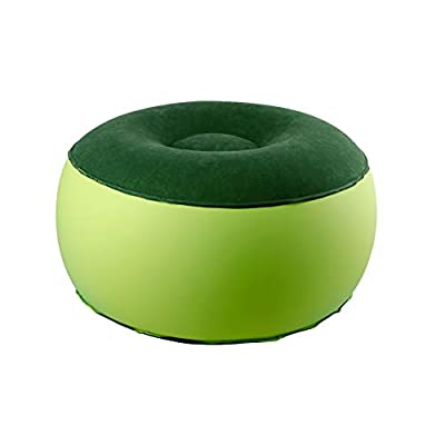 Exercise Ball Chairs,Flexible Seating for Classroom,Inflatable Foot Stool,Portable Air Chair(Green)