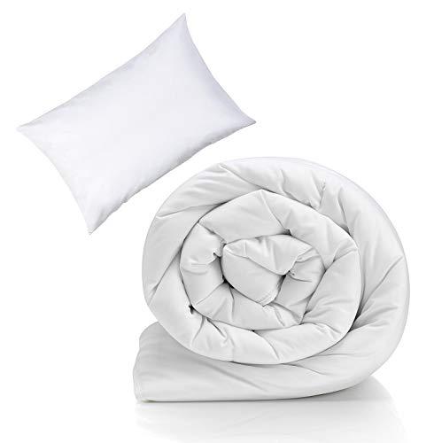 7.5 Tog Cot Bed Duvet Kids 100% Combed Cotton Hollow Fiber Toddler Duvet And Pillow Set Baby Cot Baby Bedding Set Warm Soft & Cozy Quilts | Kids Blanket Comfortable & Better Sleep 120x150 cm
