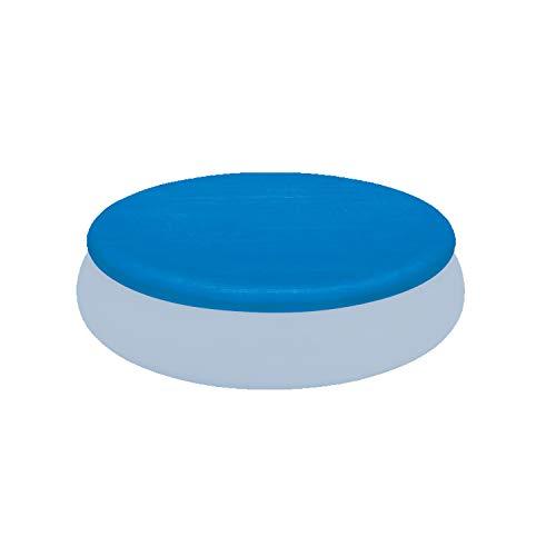 Poolabdeckung Ø345cm rund für Quick-up Pool Ø305cm - mit Fixierseilen - 110g/m² PE - Wasserdicht - UV-stabil - Poolabdeckplane Sonnenschutz Cover Swimmingpool Familienpool Poolzubehör Planschbecken