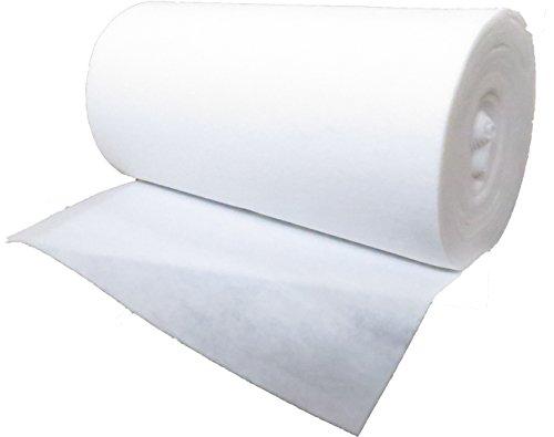 Scheidingsdoek 120 g/m2, 1,02 m breed x 50,00 lang, ca. 3 mm dik, 51 m2, (EUR 1,96/m2) 100% polyester, wasbaar, Öko-Tex Standard 100, productklasse 1, per meter, drainagevlies, filtermat, scheidingsmat.