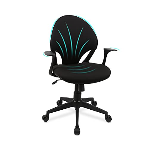 Home Office Chair,Komene Ergonomic Mesh Desk Chair with Disassemble Armrests Home Office Computer Swivel Chair and Naturally fit Curve of The Human Body Thick Soft Cushion, Support Office Task Chair