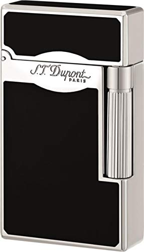 S.T. Dupont * Feuerzeug Linie 2 Le Grande Kombiflamme Chinalack schwarz