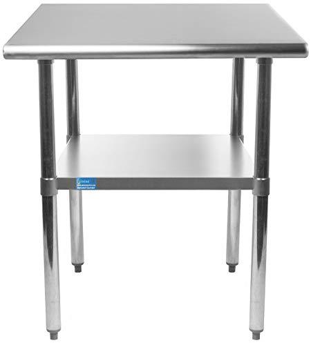 AmGood 18 X 24 Stainless Steel Work Table  Metal Kitchen Food Prep Table  NSF