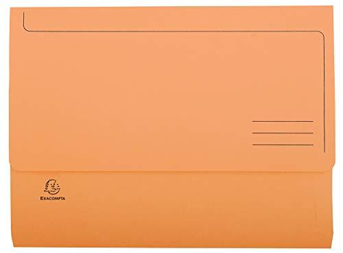 Exacompta Super Pack di 50cartelline tasca per A4220g/m² 24x 32cm arancione