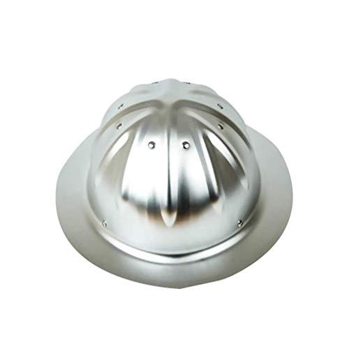 Sooiy Casco con Casco Ajustable, Casco de construcción de Aluminio,Silver ⭐