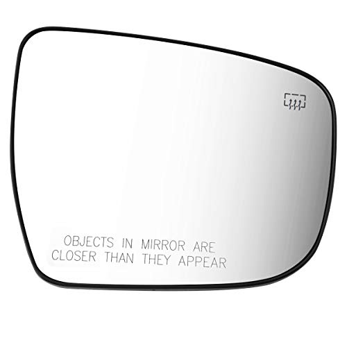 963654BA1A OE Style Passenger Right Heated Mirror Glass Lens Replacement for Rogue Murano Pathfinder 14-19