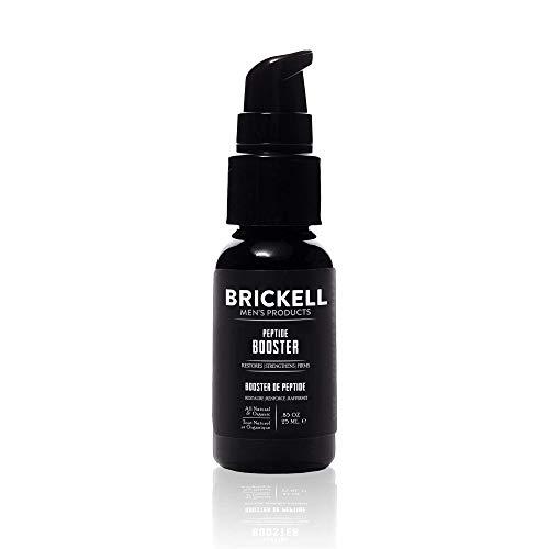 Brickell Men 's Protein Peptides Booster para hombres, para el rostro para reafirmar y restaurar la piel, aumentar la producción de colágeno y combatir el envejecimiento, .85 oz, sin perfume