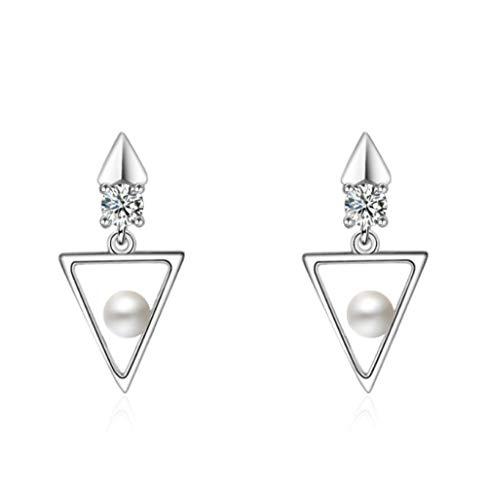 NOBRAND Joyas de Oreja chapadas con diseño de triángulo de Pendiente de Perno simulado