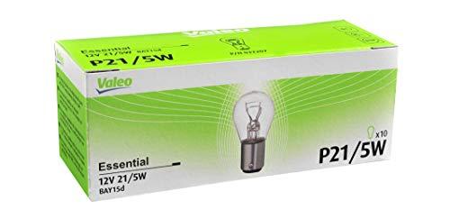Valeo Lámpara halógena, P21/5W-Essential-Cartón x10, 3220