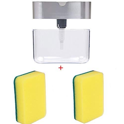 LUORATA Best Soap Dispenser for Kitchen + Sponge Holder 2-in-1 - Innovative Designed - Premium Quality Dish Soap Dispenser - Counter Top Sink Dispenser (Multi)