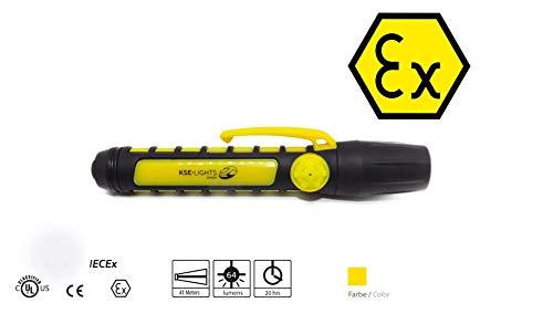 KSE-LIGHTS GmbH KS-9900 - Lámpara LED de techo (homologación ATEX 1G), color amarillo y negro