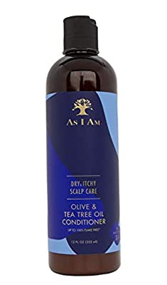 As I Am Dry & Itchy Scalp Care Conditioner - 12 ounce - Enriched with Zinc Pyrithione, Olive Oil, and Tea Tree Oil - Fights Dandruff and Seborrheic Dermatitis