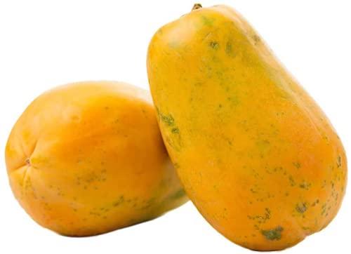 30Stücke Papaya Saat Zartes gelbes Fleisch mehrjährig einzigartige einzigartige Obstbäume wartungsarmer Papayasamen Garten fertig gepflanzt