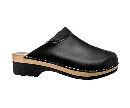 ESTRO Zuecos De Madera para Mujer Calzado Sanitario De Trabajo CDL02 (Negro 1, Numeric_37)