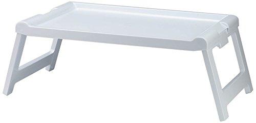 Denox Bandeja sobrecama Plegable, Blanco Brillante
