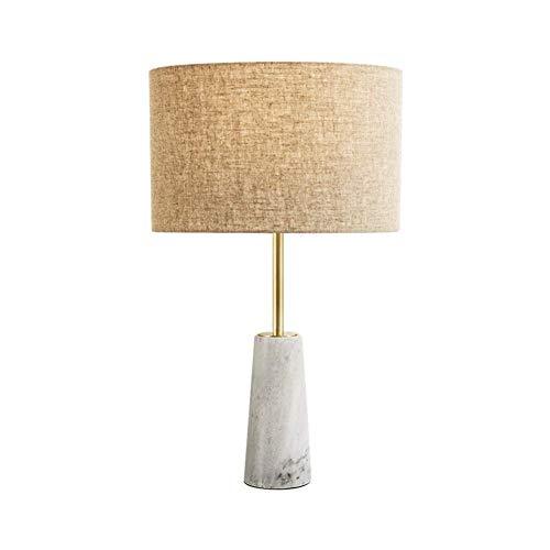 Lámpara de Mesa Lámpara de Escritorio Moderna Simple Creativa Tela de Lino Sombra Cono Mármol Base Lámpara de Mesa E27 Estudio de Luz Dormitorio de Oficina Lámpara de Lectura de Cabecera