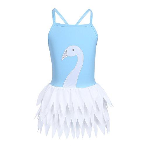 iEFiEL Ragazze Costume da Bagno Bikini Bambina Costumi Interi Mare Piscina Swimwear Bambine Set Swimsuit Spiaggia Elegante Body Stampa Floreale Bodysuit Tutu Punto