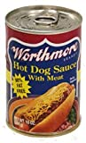 Worthmore Hot Dog Sauce with Meat, 10-ounce Can (Pack of 6)