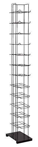 SSWBasics Black Floor Standing Cap and Hat Display Rack