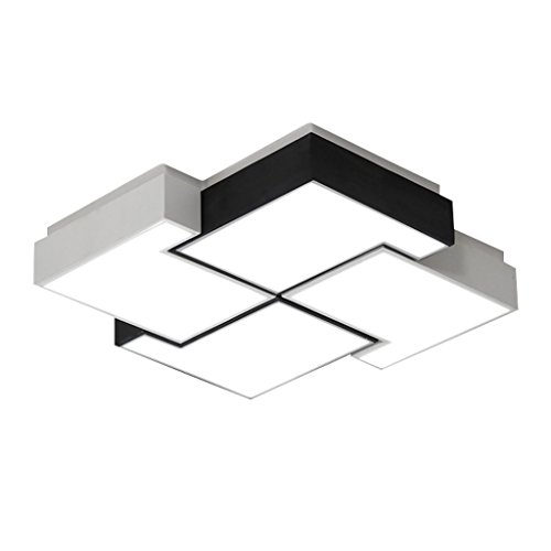 Lámpara de Techo Luz de techo del estilo minimalista moderno nórdico, lámpara colgante cuadrada de acrílico del hierro labrado, luz del clubhouse interior, LED Iluminación de Techo