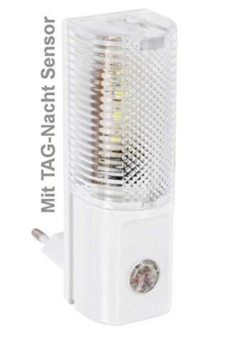 Steckdosen Kindersicherung Flurlampe *sehr sparsames* Nachtlicht für die Steckdose - LED mit TAG-NACHT-SENSOR