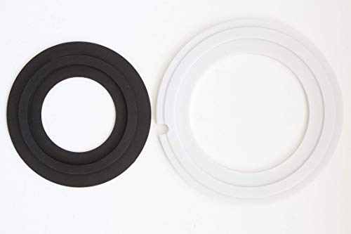 Replacement for Dometic 385311462, 385310677 RV toilet seal kit. (Without overflow holes)