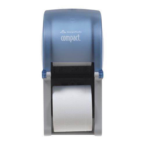 Georgia-Pacific Compact 56789 Splash Blue Vertical Double Roll Coreless Tissue Dispenser (1 Each)
