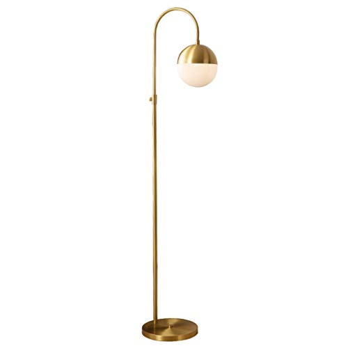 Stehlampen. Nordic Stehlampe Einfache Kupfer Retro Haus Wohnzimmer Esszimmer Study Schlafzimmer Licht European Luxus Büro E27 Stehleuchten Piano Licht