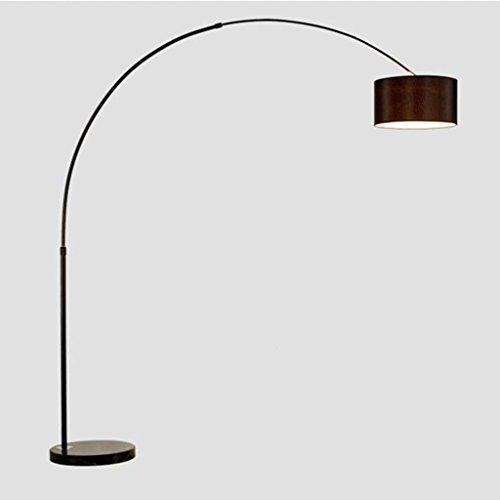 Irgenje thuislamp Moderne hengelpole gebogen staande lamp, marmer basis, met afstandsbediening, instelbare lichtkleur