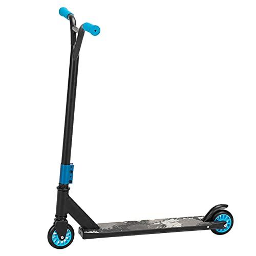 Con freno trasero Pro Scooter para adolescentes y adultos, Freestyle Trick Scooter azul manillar robusto marco de aluminio