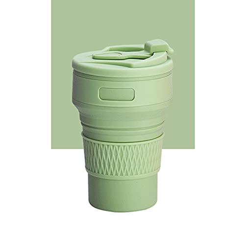 LYR Tazas de café Plegables BPA 350ml Líquido Plegable de Silicona Botellas de Agua Viajes Tazas de té Agua de Calidad de la Comida Taza de consumición