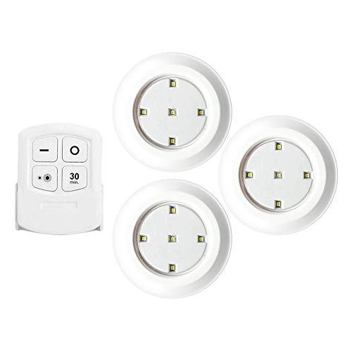 ADAGG LED Sensore di Controllo Pat Light, Telecomando Senza Fili COB Comodino Camera Da Letto Armadio Dimmerabile Luce Touch Night Lampada Casa Cucina Spotlight